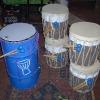 Metal Dundun and Bucket Drums